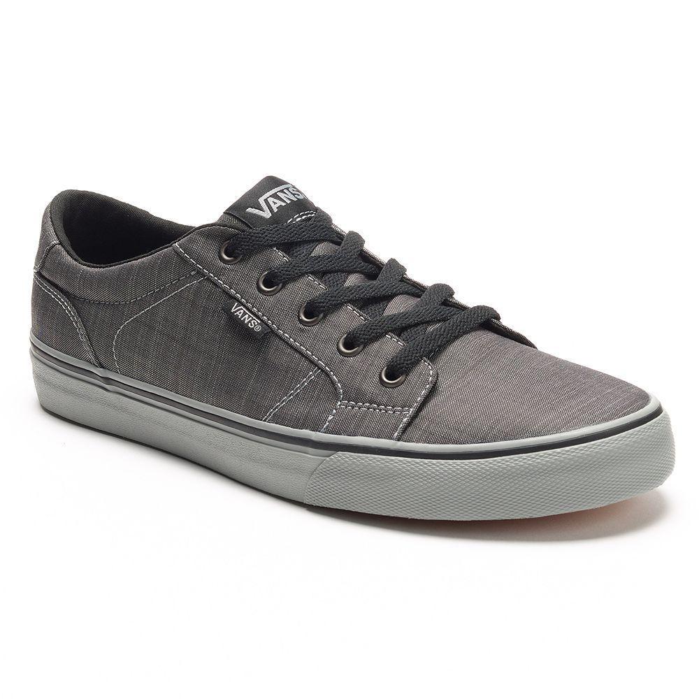 NIB Vans Men's Bishop Skate Shoes Gray Black All Sizes