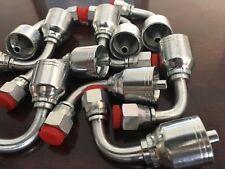 10 Pc13943 6 6 Pk Style Hydraulic Hose Fittings 38 Hose 38 Fjic 90 Degree