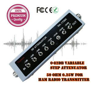 NEW-0-82DB-VARIABLE-STEP-ATTENUATOR-50-OHM-for-Ham-Radio-Transmitter-DC-250MHZ