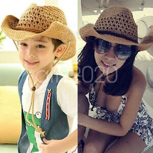 513164ba6 Details about Fashion Men Women Boy Girl Cowboy hat Summer Beach Sun Hat  Straw Derby Cap