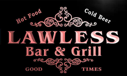 u25701-r LAWLESS Family Name Bar /& Grill Home Beer Food Neon Sign