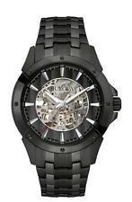 Bulova Automatic Collection Black Skeleton Dial Analog Men's Watch 98A147