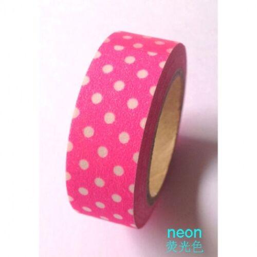 Quality WASHI TAPE Sticky Decorative Adhesive Masking Paper Tape Roll 15mm x 10m