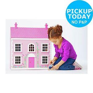 Chad-Valley-Wooden-3-Storey-Dolls-House-Pink-Argos-eBay