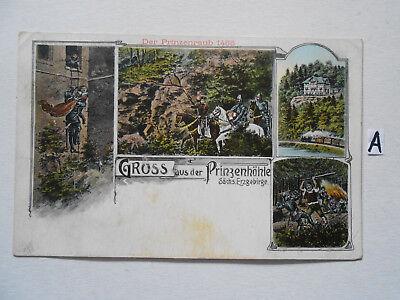 Postkarte Ansichtskarte Sachsen.gruss Aus Der Prinzenhöhle Sächs.erzgebirge