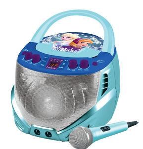disney frozen kinder cd player mit karaoke die eisk nigin mp3 musikanlage anlage ebay. Black Bedroom Furniture Sets. Home Design Ideas