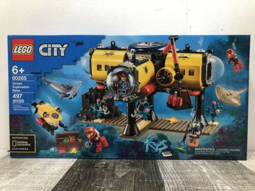 Free Shipping LEGO City 60265 Ocean Exploration Base 497 Pieces NEW
