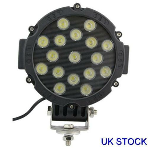 1x 51W Bright LED Car Offroad Jeep 4x4 Work Driving Fog Light Spot Beam Lamp New