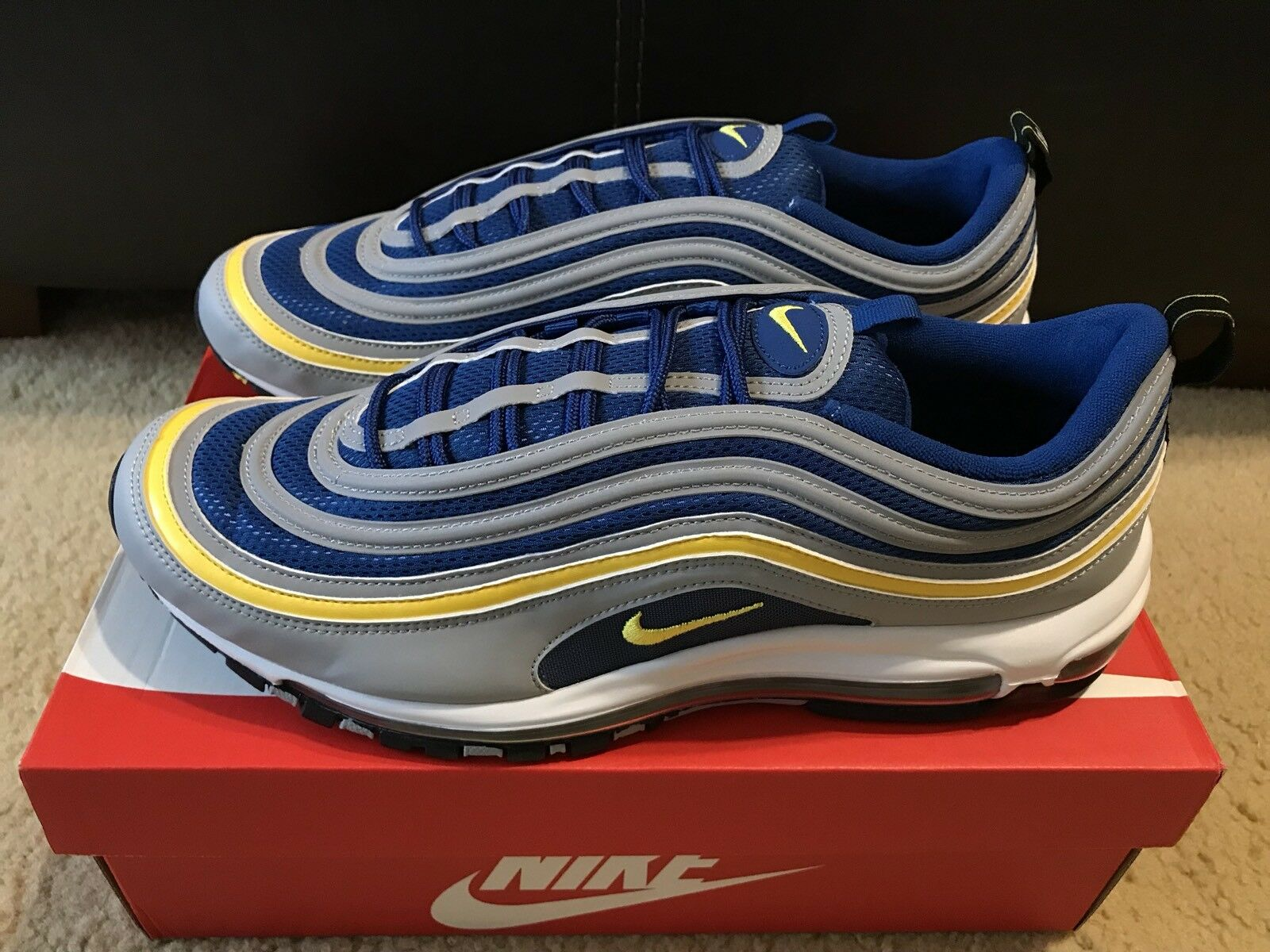Nike Air Max 97 Wolf Grey-tour Yellow-gym Blue Sz 13 921826-006 for ... 4a60737a9
