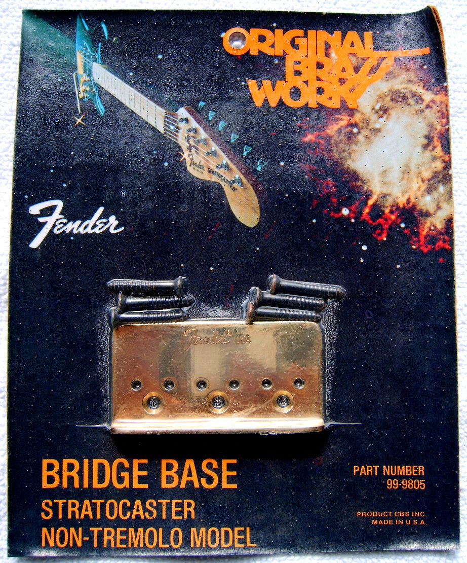 Fender Stratocaster Brückenplatte Brass NOS from 1978 Gold OVP Vintage