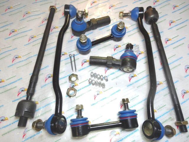 8 Piece Tie Rod End Front Inner & Outer Sway Bar Link EV427 ES3407 K90352 K90684