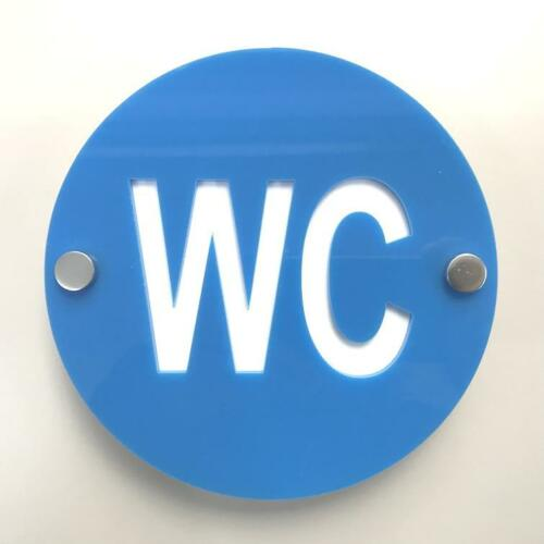 """Colour Options Available Round WC /""""Stand Off/"""" Toilet Signs"""