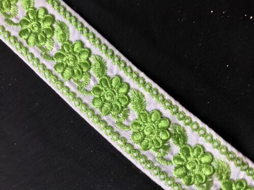 """45mm blanco bordado de Encaje Floral Recortar//x 1m 1.3//4/"""""""
