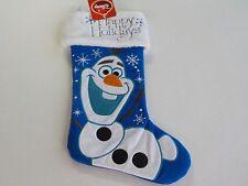 DISNEY FROZEN OLAF HAPPY HOLIDAYS BLUE LARGE CHRISTMAS STOCKING NEW NWT 402*