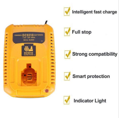 Hot Battery Charger For DEWALT DC9310 7.2V-18V NiCd NiMh DC9096 DC9098 DC9091 FH