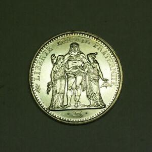 1967-10-Francs-Hercules-France-AU-Silver-Coin-KM-932