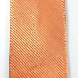 Zenio Orange Narrow Skinny Microfiber Tie Necktie