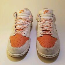 2008 Nike SB Dunk Low CL Cream White Hoop Orange Gum 318020-111 Basketball Sz 12