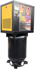 1 Phase 220v 55hp Rotary Screw Air Compressor 175psi With 60 Gallon Asme Tank