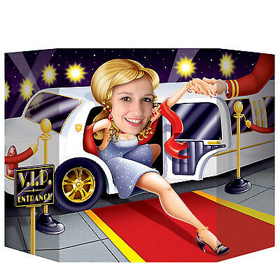 Hollywood Limo VIP Entrance Photo Prop - 94 x 64cm - Red Carpet Party Decoration