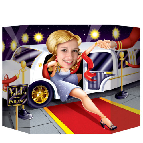Hollywood Limo VIP Entrance Photo Prop 94 x 64cm Red Carpet Party Decoration