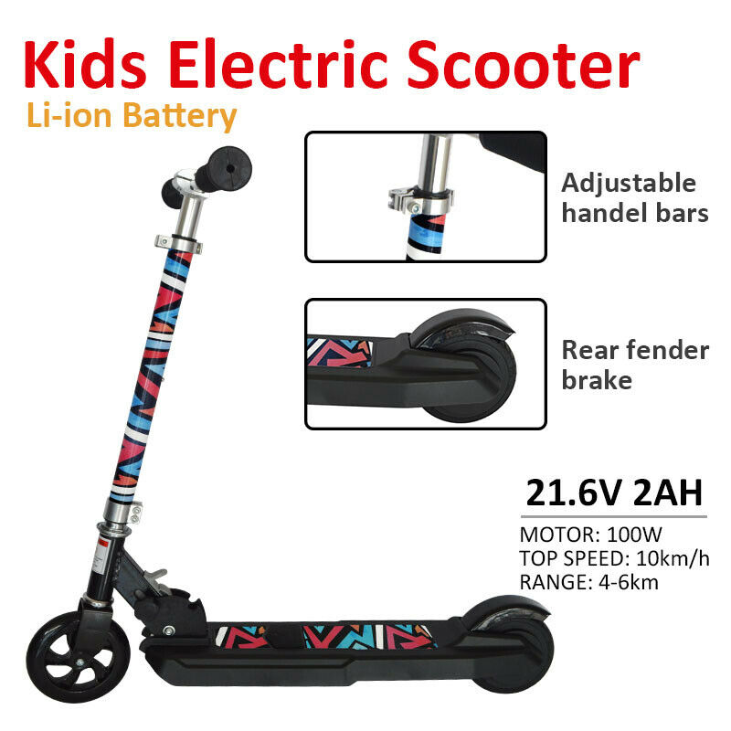 Kids Li-Ion Battery Electric E Scooter Folding Ride On Lithium Children Toy