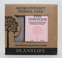 Plantlife Aromatherapy Herbal 100% Natural Soap Pink Lemonade 4 Oz In Box
