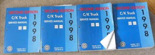 1998 Chevrolet GMC Service Manual Set
