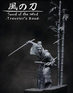 1-24-75mm-Resin-Figure-Model-Kit-Samurai-Sword-Of-The-Wind-Unpainted-Unassembled