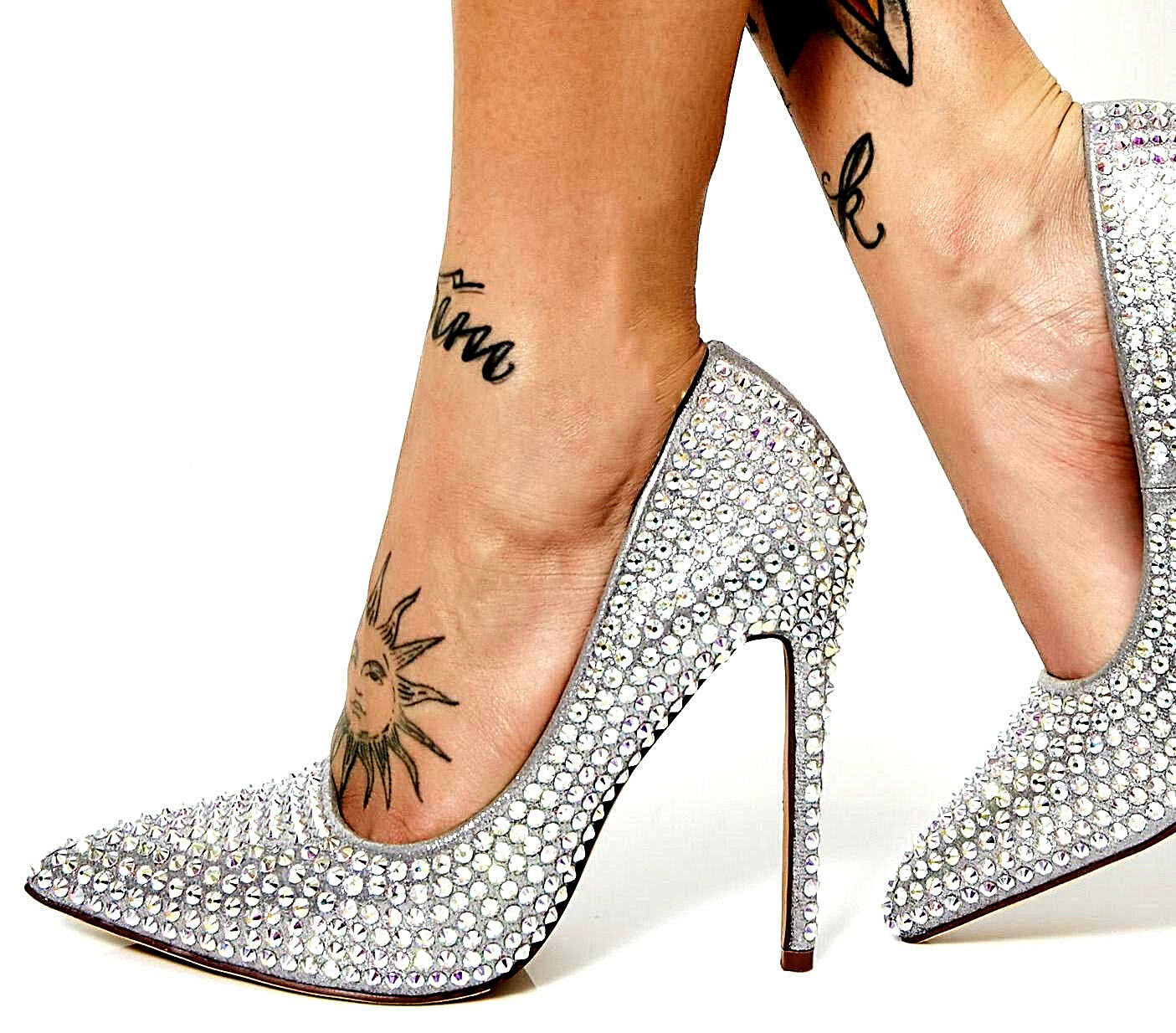 NEW NIB VIGO FIORE CRYSTAL COVERED CLEAR SILVER SILVER SILVER BLING HEELS PUMPS PROM WEDDING 5855c6