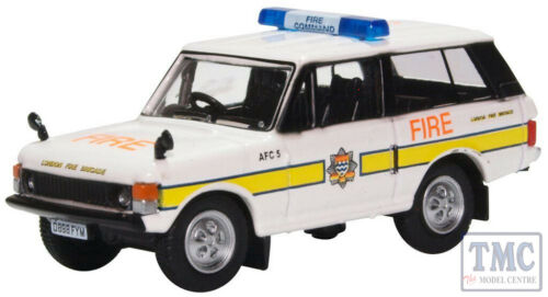 76RCL004 Oxford Diecast OO Gauge Range Rover Classic London Fire Brigade