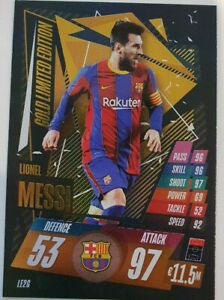 2020-21-Match-Attax-UEFA-Lionel-Messi-Gold-Limited-LE2G-Barcelona