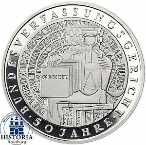 BRD-10-DM-Bundesverfassungsgericht-BVG-2001-Silber-Spiegelglanz-in-Muenzkapsel