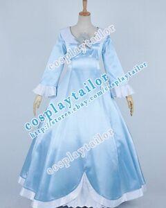 Details about Super Mario Galaxy Princess Rosalina Cosplay Costume Light  Blue Dress Halloween