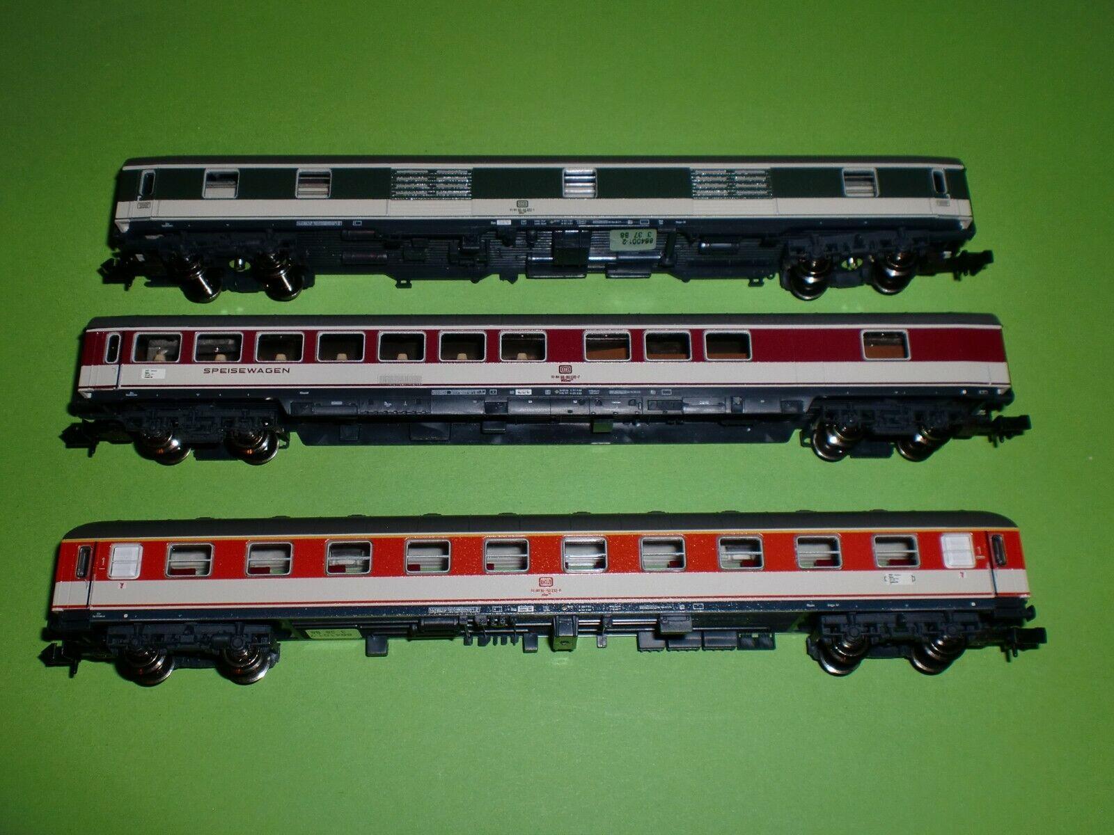 Fleischmann Spur N 931881 3 x Popfarben Personenwagen Neu