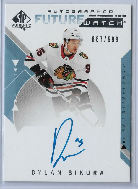 2018-19 SP Authentic Future Watch Autograph Rookie Dylan Sikura 887/999 Chicago