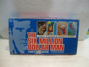 Six Million Dollar Man 1975 Board Game Based On TV Show By Parker Brothers gm68