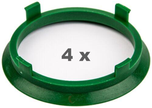 4 pezzi anelli di centraggio 71.6 mm a 64.1 mm VERDE//GREEN