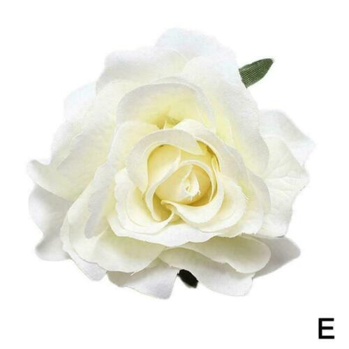 Large Rose Flower Hair Clip Bridal Hairpin Brooch Wedding Bridesmaid Access E9W0
