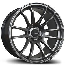 Avid1 AV20 18X9.5 5x100 +38 Black Wheels Aggressive Fits Impreza Golf Corolla Tc