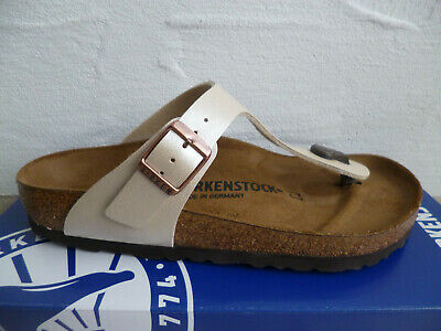 Birkenstock Gizeh Zehen Trenner Pantolette Graceful Pearl White 943871 NEU! | eBay