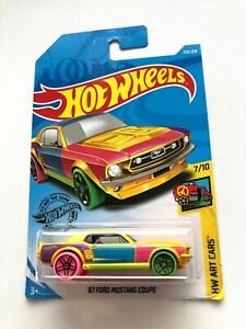 Hot-Wheels-2019-67-Ford-Mustang-Coupe-218-250-HW-Art-Cars-7-10-mattel-fyc26