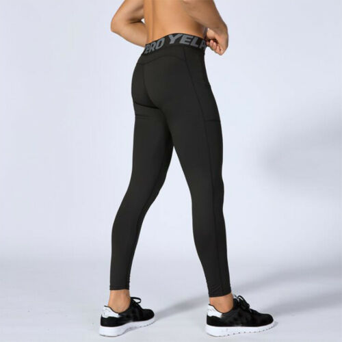 Mens Workout Thermal Compression Tights Gym Under Base Layer Running Long Pants
