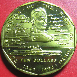 1992-MARSHALL-ISLAND-10-BRASS-FIRST-AIR-RAID-ON-TOKYO-SHIP-PLANE-DOOLITTLE-WWII