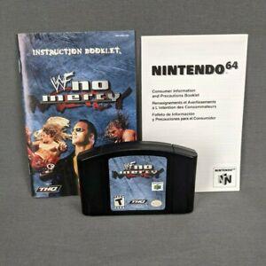 WWF No Mercy Nintendo 64 N64 2000 Auténtico con manual e inserte