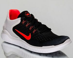 b7b37c2434cb Nike Free RN 2018 Men Black Total Crimson Vast Grey Running Sneakers ...