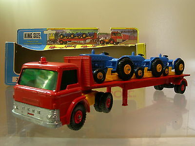MATCHBOX KINGSIZE K20 FORD D800 TRACTORTRANSPORTER RED BOXED SCALE 1:55 ??