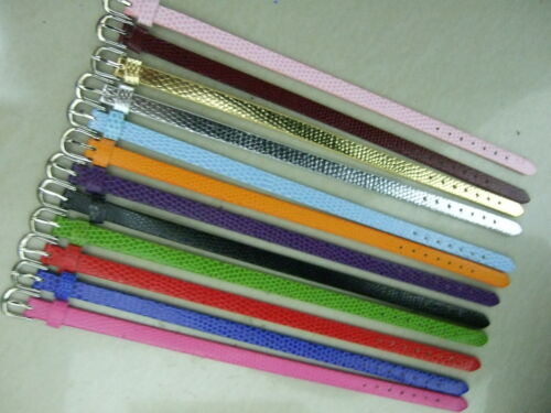 Wholesale Lot 100 pcs PU cuir Bracelet Bracelet Fit 8 mm Slide//lettre charms
