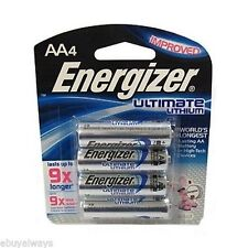 4 AA Energizer Ultimate Lithium Batteries L91BP-4 Exp. 2025 - 1.5v New - Sealed