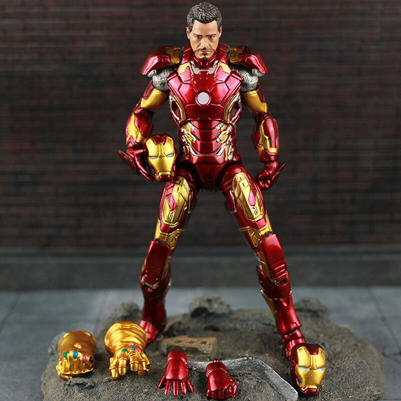 7'' Avengers Infinity War Iron-Man Figure With Thanos Infinity Gauntlet Toy Gift